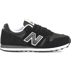 New Balance 373 suede and mesh trainers ($32) ❤ liked on Polyvore featuring shoes, sneakers, mesh shoes, new balance footwear, suede leather shoes, suede shoes and new balance shoes