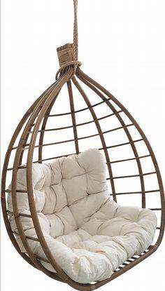 Droom met heerlijk weg in je tuin met een boek op schoot! Rattan Furniture, Furniture Design, Patio Swing, Porch Swings, Swing Chairs, Napa Style, Swinging Chair, New Room, New Homes