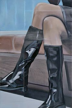 Eberhard Havekost Contemporary Paintings, Figurative Art, Stockings, My Favorite Things, Portrait, Heels, Boots, Inspiration, Image