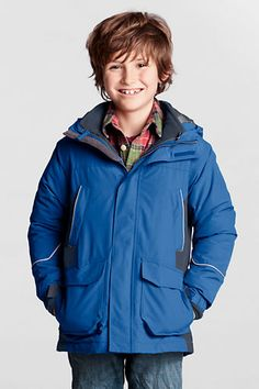 Boys' Squall® 3-in-1 Waterproof Parka from Lands' End