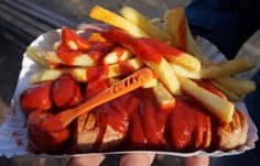 Currywurst from Curry 36, Berlin