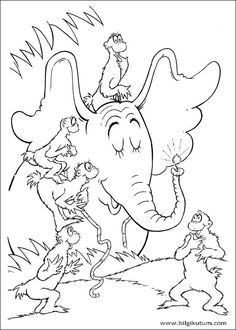 horton hears a who coloring pages to print dr seuss