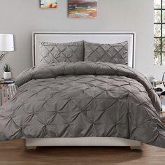 Sweet Home Collection Luxurious Pinch Pleat 3 Piece Comforter Set & Reviews | Wayfair