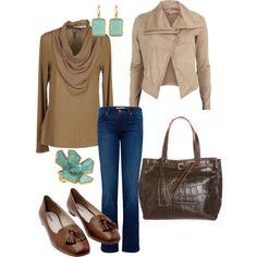 Fall chic... Love the purse!