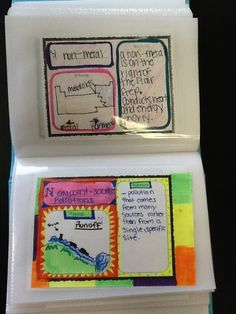 SCIENCE Note-taking and Vocabulary Strategies - Student Notbooks: Allow students to have choice and personal modifications to their note-taking. Not all students benefit from the structured outline! (Grades 3 - 12) Found on Pinterest.