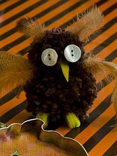 Halloween Crafts Ideas - Pom-Pom Owl from Woman's Day Magazine - Woman's Day
