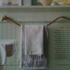 martha stewart rope towel holder - Google Search