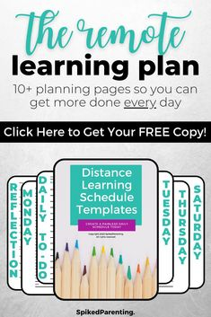 Distance learning is new to most of us...but it doesn't have to be difficult. All you need is a simple plan to keep everyone on track. This distance learning planner will help you organize your day so your kids succeed and you can get more done. Grab this amazing distance learning printable today! Time Management Techniques, Time Management Tools, Time Management Strategies, Business Tips, Online Business, A Simple Plan, Schedule Templates, School Schedule, Tips Online