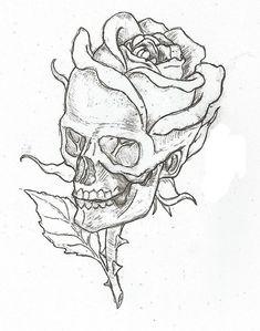 Simple skulls and roses drawings easy skull drawings, simple skull drawing, rose drawings, Calavera Simple, Plant Drawing, Drawing Flowers, Skull And Rose Drawing, Rose Drawing Simple, Simple Skull Drawing, Simple Rose, Art Flowers, Painting Flowers