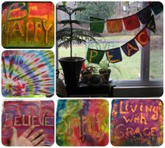 So many ideas for prayer flags...here is a collage for you.