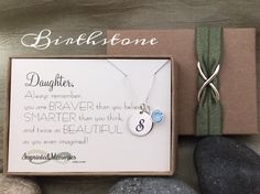 Daughter Gift  Necklace for Daughter Necklace by ImprintedMemories