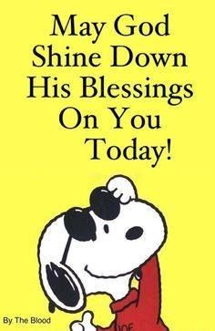 Blessings. More