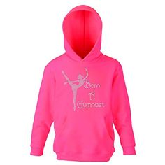 Girls Personalised Gymnastics 3 Point Pose Kids Hoodie Back Pack Dance