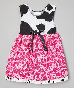 Look at this Pink & Black Crazy Cows Dress - Infant & Toddler on #zulily today!