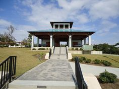 Pavilion in Fort Maurepas Park on Front Beach, Ocean Springs, MS.
