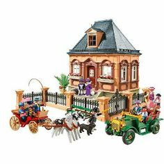 playmobil FAO Vicotiran CIty Life 5955 exclusive by Playmobil. $99.99. 18+ months. FAO Schwarz 150th Anniversary Exclusive. Victorian City Life. Playmobil 5955. 342 Pieces with furnishing. Brought back from archives in honor of FAO Schwarz 150th Anniversary, Playmobil Victorian City Life Playset #5955 features 342 including Victorian house, furnishings, horse and buggy.  Highly collectible, exclusive anniversary edition.