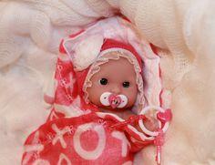 "OOAK PINK 5-6"" Baby Girl Doll Clothes & ACC~Valentine~For Mini Reborn~Berenguer #LandofNodNursery"