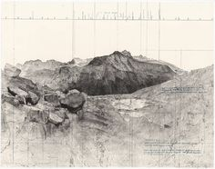 Mapping/art_Due East from Eagle Scout Pass, The Black Kaweah, by Matthew Rangel.