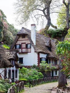 beautiful European cottage; LOVE THE FENCE                                                                                                                                                                                 More