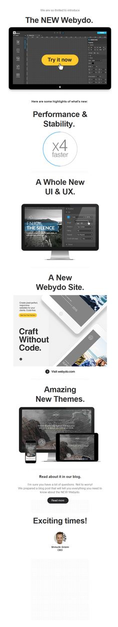 Meet the NEW Webydo - Really Good Emails