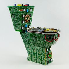 The Royal Data Throne: A Circuit Board Toilet Design - totally awesome! It's non-functional of course, but this would be a great gift for the technically-minded plumber.