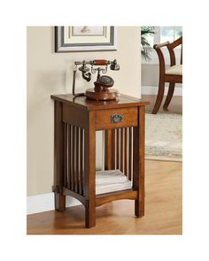 Furniture of America Hand-rubbed Oak Finish End Table - Overstock Shopping - Great Deals on Furniture of America Coffee, Sofa & End Tables Mission Style End Tables, Mission Style Furniture, Oak End Tables, Hall Tables, Side Tables, End Tables With Storage, Wild West, Decoration, Living Room Furniture