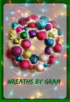 Ornament Wreath; Christmas Wreath; Wreath for Front Door; Christmas Decor; Bauble Wreath, Holiday Decor; Gift for Mom; Christmas Decorations. #christmas #christmasdecorations #wreathforfrontdoor #christmaswreath #holidaywreath #holidaydecor #christmasdecor #giftforher #holidaygifts #giftideas #christmaspresent #baublewreath