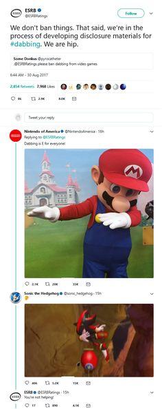 Nintendo rates dabbing http://ift.tt/2elKjki
