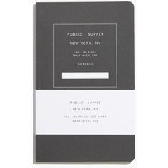 MADEWELL Public-Supply™ Notebooks ($12) ❤ liked on Polyvore featuring home, home decor, stationery, fillers, notebooks, accessories, books, black fillers and black
