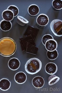 chocolate dulce de leche cups from @Laura | Tutti Dolci