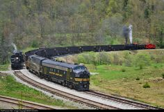 RailPictures.Net Photo: WM 243 Western Maryland Railway EMD FP7 at Spruce, West Virginia by BNSF ES44DC
