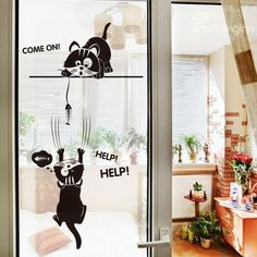 Black Cats Pattern PVC Waterproof and Eco-friendly Wall Stickers