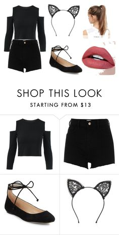 """""""Kitty Cat!"""" by lilaclovegood on Polyvore featuring River Island, Karl Lagerfeld, Fleur du Mal and NIKE"""