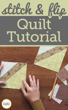Diane Harris explains why you want to have the stitch and flip in your box of quilting skills. You will find that this method uses squares and rectangles to end up with triangular shapes without having to cut or sew triangles or sew along a bias edge. Look at multiple examples ranging from a flying geese unit to a square in a square unit.