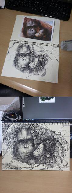 2012 SOKI 공모전 출품작01-Sumatran Orangutan 수마트라 오랑우탄