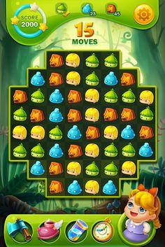 原创作品:绿野仙踪消除游戏 Grid Game, Game Gui, World Map Game, Level Design, Kawaii Games, Map Games, Match 3 Games, Game Ui Design, Game Props