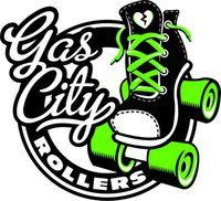 SKATE~Gas City Rollers Roller Derby Logo
