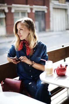 El blog de Renée: Looks con bandana en el cuello