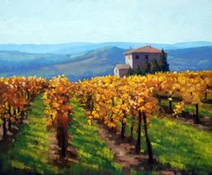 .Armand Cabrera...Autumn Tuscany 20 x 24....Art and Influence: 2013 New Paintings