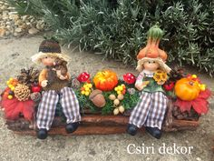 Thanksgiving Decorations, Christmas Decorations, To My Mother, Scarecrows, Fall Crafts, Fall Decor, Halloween Party, Garden Design, Centerpieces