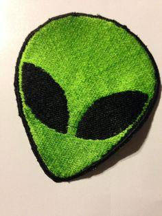 Iron on Alien Patch by Joycesknitwear on Etsy, $6.99