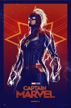 Here's a look at a #Marvel Studios' #CaptainMarvel -inspired poster created by illustrator Tracie Ching. 🌟 #art