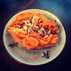 Put a spin on Breakfast. Get this Loaded Sweet Potato Recipe! www.farmfoodieandfitness.com