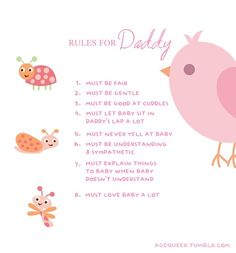 Rules for Daddy