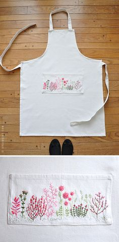 I love her paintings and, oh my, this apron!