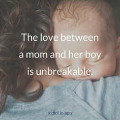 We adore our sons! #motherhood ~ The love between a mom and her boy is unbreakable!