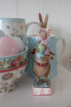 My sweet Maileg Easter bunny Happy Easter, Easter Bunny, Maileg Bunny, Chocolate Rabbit, Easter Parade, Easter Holidays, Egg Decorating, Vintage Easter, Cath Kidston