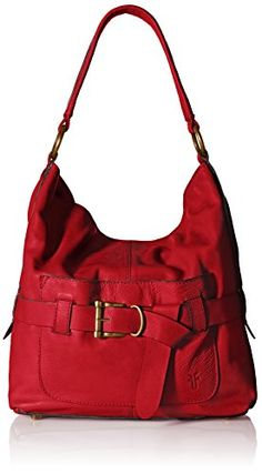 FRYE Kayla Knotted Hobo Bag, Red, One Size *** FIND OUT ADDITIONAL DETAILS @: http://www.passion-4fashion.com/handbags/frye-kayla-knotted-hobo-bag-red-one-size/
