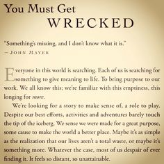 Opening to my upcoming book, Wrecked.