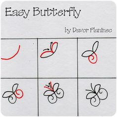 Journey of a wannabe artist: Easy butterfly